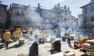 carnevale polenta piazza mercato