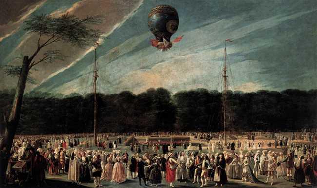 mongolfiera dipinto