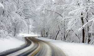 strada ghiaccio freddo